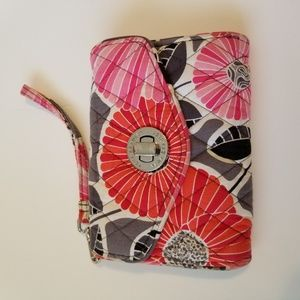 Vera Bradley wallet wristlet,red,pink gray,&black